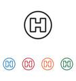 helipad icon vector image