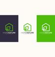 home nature logo design vector image vector image
