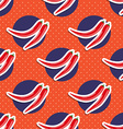 hot pepper pattern Seamless texture with ripe red vector image vector image