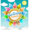 ice cream festival concept in vector image vector image