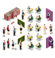 isometric school people set vector image vector image
