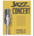 jazz festival background 5 vector image vector image