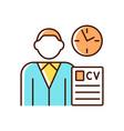 job applicant rgb color icon