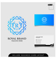 logo design royal brand modern concept with vector image vector image