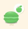 macaroon with apple taste vector image