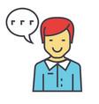 man talks client support customer help service vector image