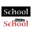 narrow black and white banner the school vector image