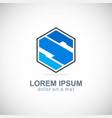 polygon letter s company logo vector image
