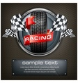 Racing emblem on black vector image vector image
