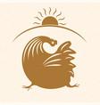 rooster emblem 2 vector image vector image