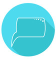 round speech bubbles vector image vector image