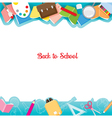 School Supplies Icons On Frame vector image vector image