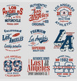 set of 9 la vector image