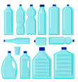 set plastic bottles plastic pollution vector image