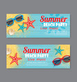 summer beach party invitation ticket template vector image vector image