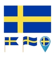 Sweden country flag vector image vector image