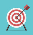 Target with arrow standing vector image vector image