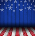 USA style background empty wooden table vector image