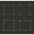 Vintage gold frames vector image vector image