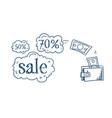 wallet money transaction shopping sale concept vector image