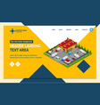 warehouse concept landing web page template 3d vector image vector image