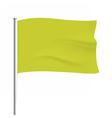 Waving yellow flag tempalte vector image vector image