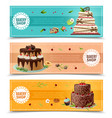 cakes banners set vector image