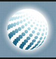 set abstract halftone 3d spheres 15 vector image