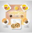 sweet breakfast food concept vector image