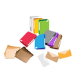 A Set of Office Folder and Close Envelope vector image