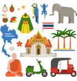 Thailand travel vector image