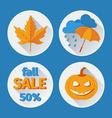 icons set autumn flat design vector image