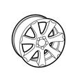 wheel on white vector image