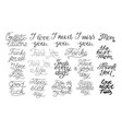 19 hand-lettering quotes i love you happy vector image