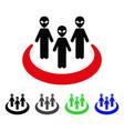 alien community flat icon vector image vector image