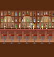 bar pub night club interior vector image vector image