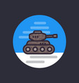 battle tank flat style icon vector image vector image
