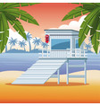 beach and summer vector image vector image