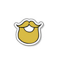 beard doodle icon vector image vector image