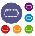 bicycle chain icons set vector image vector image