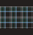 Black check plaid fabric texture seamless pattern vector image