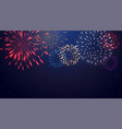 bright colorful fireworks on night background vector image vector image