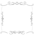 Calligraphic borders frames vector image vector image