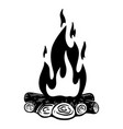 camp fire on white background design element for vector image vector image