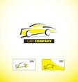 Car logo design vector image vector image