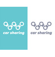 car sharing logo vector image