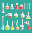 chemical laboratory lab flask glassware vector image vector image
