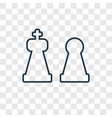 chess concept linear icon isolated on transparent vector image