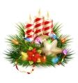christmas candle eps 10 vector image