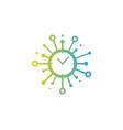 clock share logo icon design vector image vector image